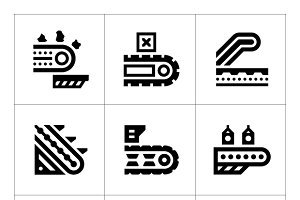 Set icons of conveyor
