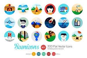 Scenicons Flat icons - 300 icons